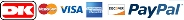 visa dankort mastercard paypal american express