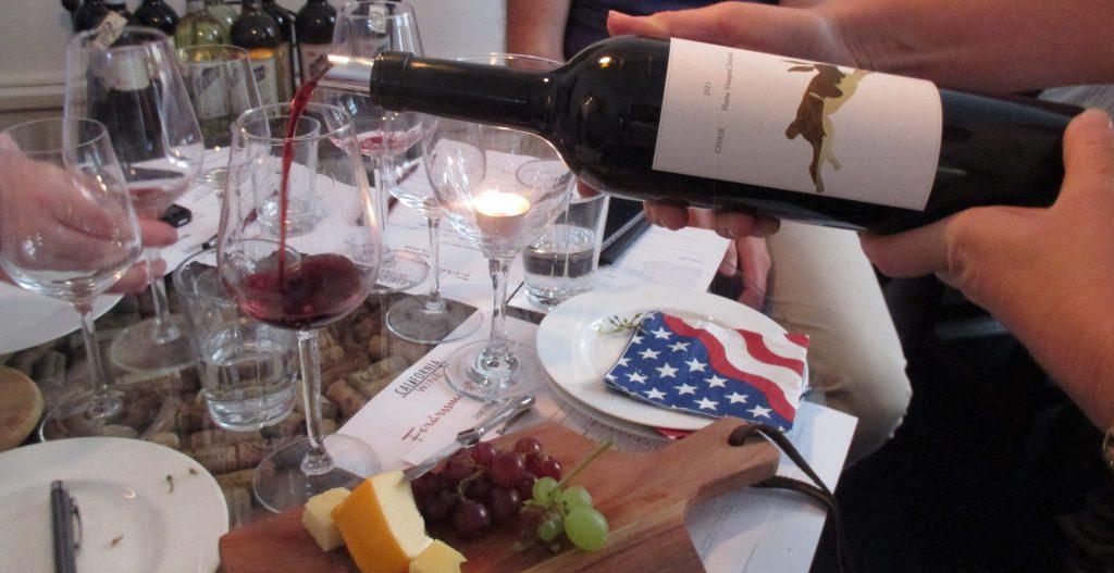 californisk vinsmagning vinflaske